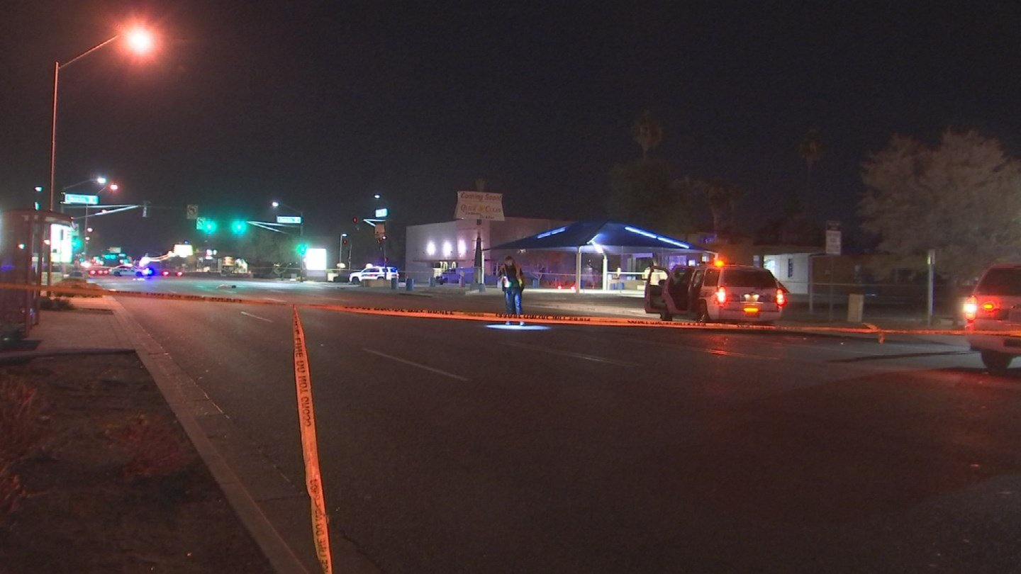 Phoenix police say a man was struck and killed overnight Monday in a Phoenix crosswalk. (Source: 3TV/CBS 5)