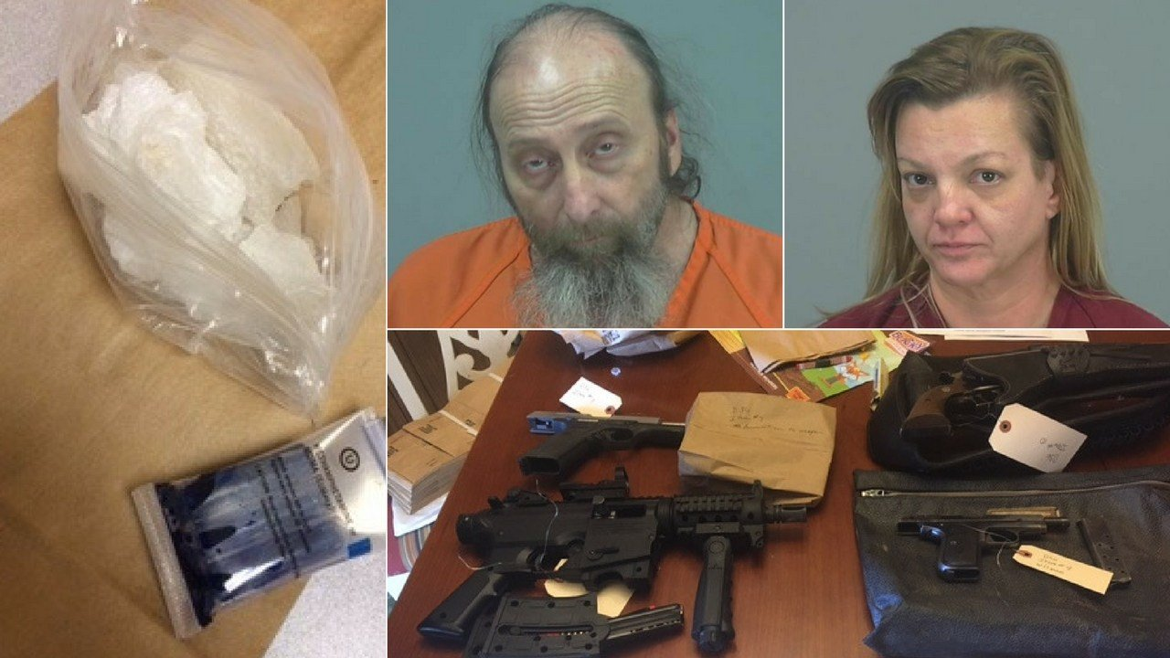 Pinal County authorities say a man and woman have been arrested for allegedly selling drugs out of their Apache Junction home. (Source: Pinal County Sheriff's Office)