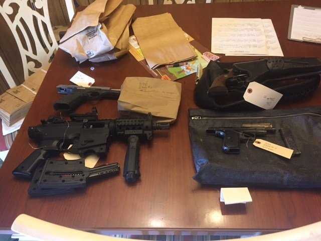 Sheriff's deputies also took several weapons from the home along with more than $5,500. (Source: Pinal County Sheriff's Office)