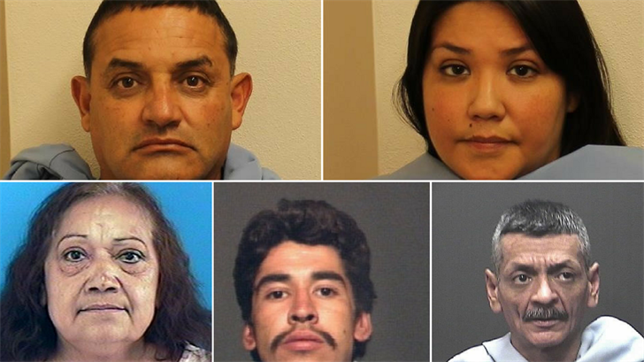 All five are accused of using fake credit cards encoded with stolen credit card numbers from 27 victims around the country. (Source: Arizona Attorney General's Office)