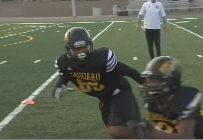 Saguaro receiver Josiah Jacobs was named MaxPreps Athlete of the Month. (Source: 3TV/CBS 5)