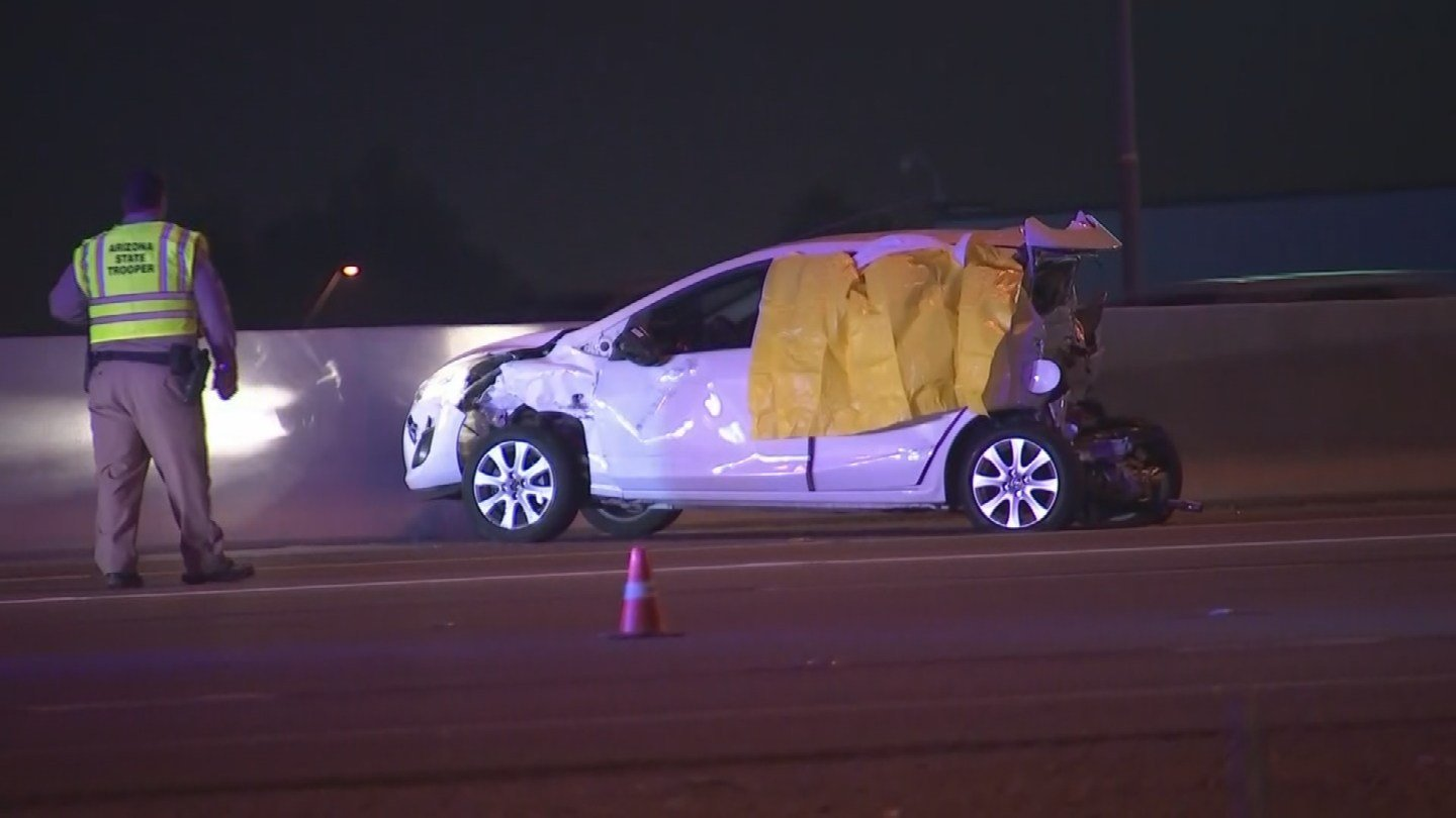 The Arizona Department of Public safety had eastbound Interstate 10 closed for several hours as they investigated a deadly crash in Avondale on Tuesday night. (Source: 3TV/CBS 5)