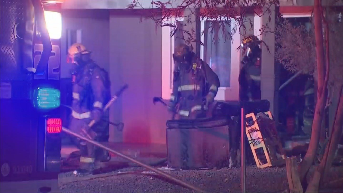 A family of two is displaced after their south Phoenix home caught fire early Wednesday morning. (Source: 3TV/CBS 5)