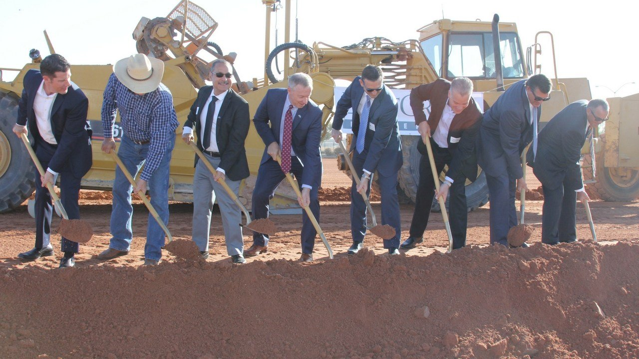 City of Mesa council members break ground on new industrial facility on Nov. 28. (Source: City of Mesa)