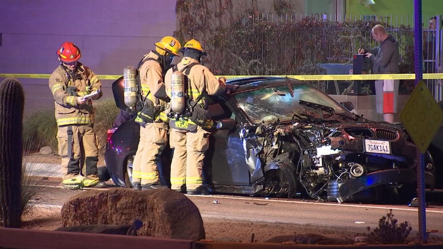Chu was driving at speeds of 80 to 100 mph in a BMW when he collided with a Kia on University and Hardy drives in January. (Source: 3TV/CBS 5)