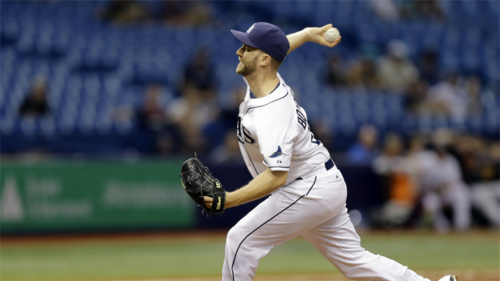 Tampa Bay Rays relief pitcher Brad Boxberger pitches to the Miami Marlins during the ninth inning of an interleague baseball game Wednesday, Sept. 30, 2015, in St. Petersburg, Fla. (Source: AP Photo/Chris O'Meara)