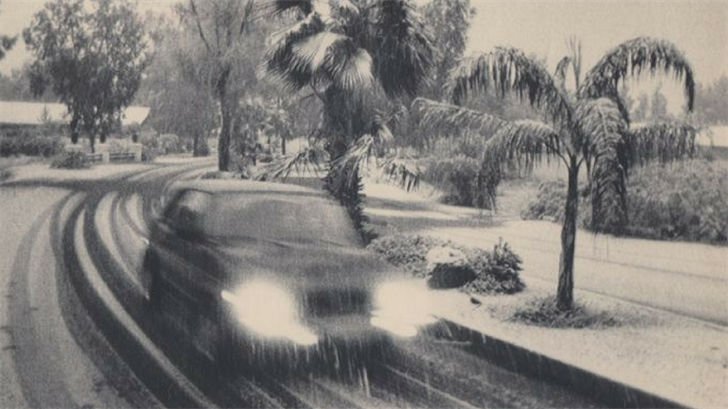It hasn't snowed in downtown Phoenix since the 1930s. (Source: 3TV/CBS 5)