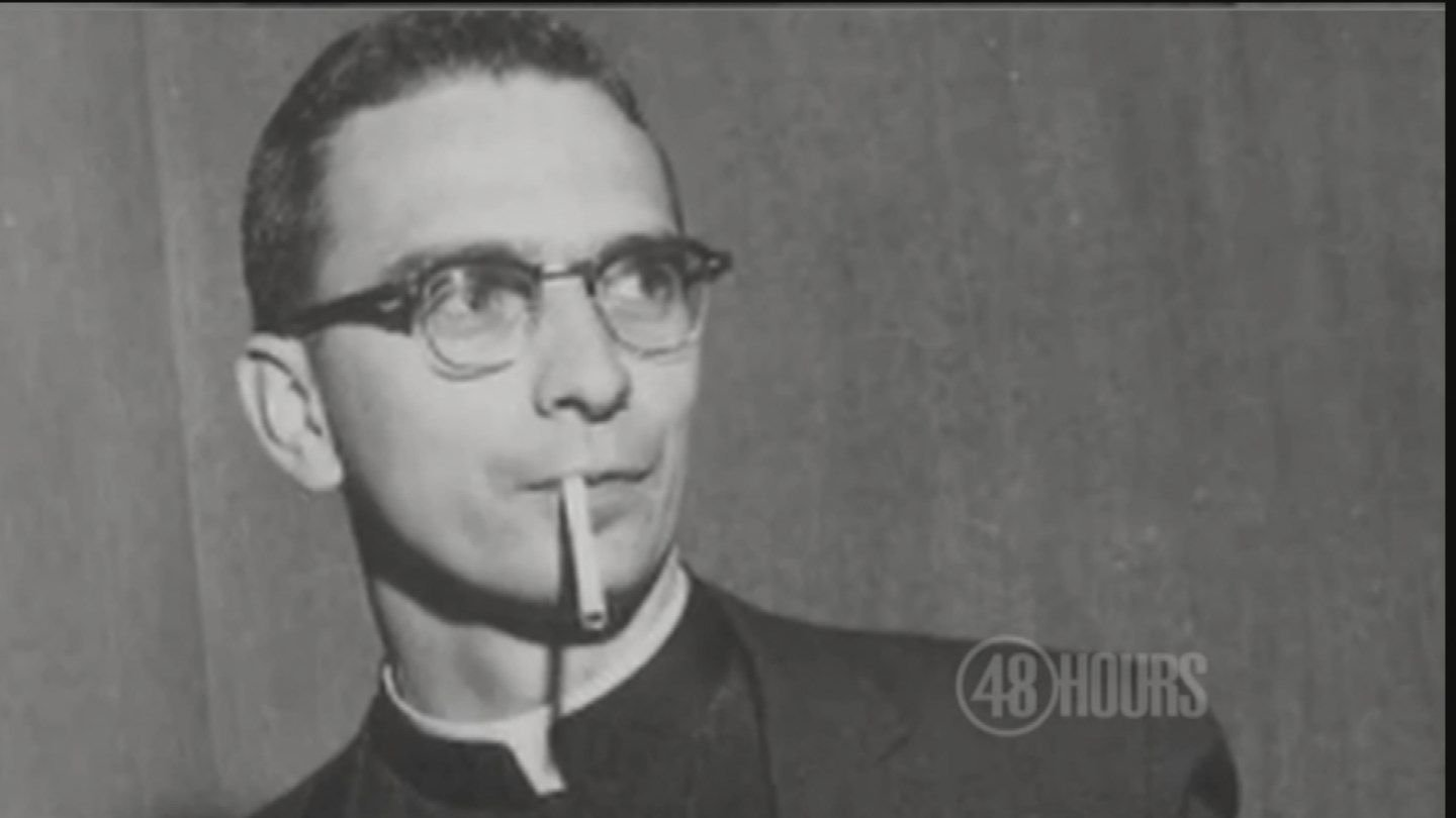 Feit, a 27-year-old priest in 1960, was the last person to see Garza alive. (Source: CBS News)