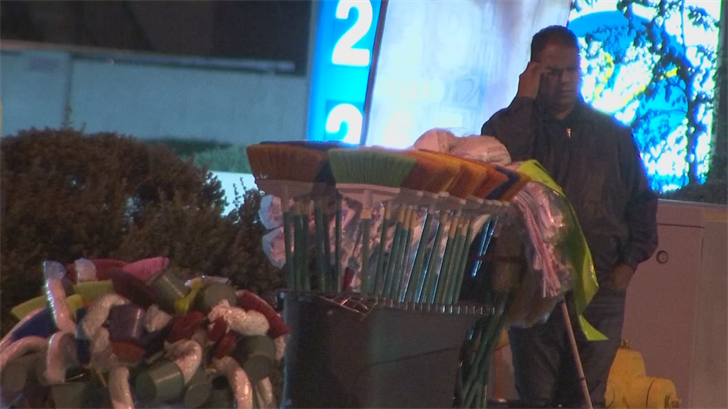 Ibañez has becomea neighborhood staple, selling cleaning supplies to support his family. (Source: 3TV/CBS 5)