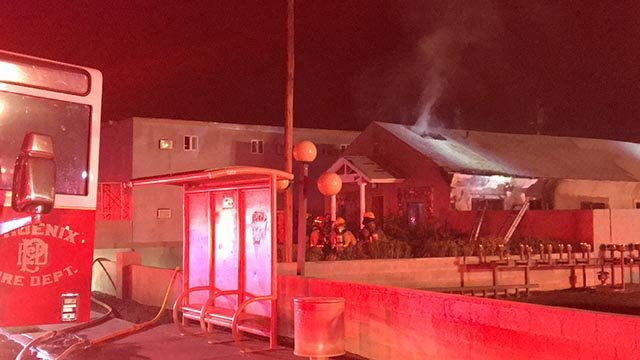 Firefighters battled an extensive overnight attic fire in Phoenix Friday. (Source: Phoenix FD)
