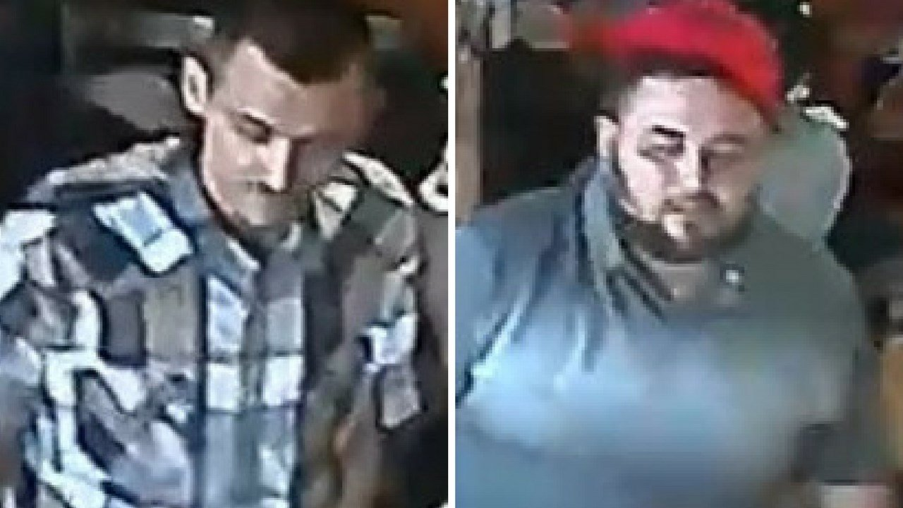 Phoenix police are searching for these two suspects who they say shot a woman in a restroom on April 16. (Source: Phoenix Police Department)