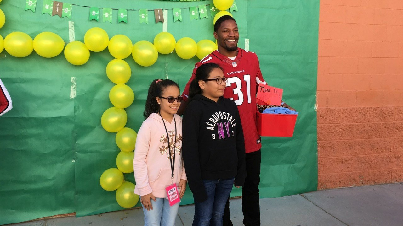 Arizona Cardinals David Johnson has embraced anti-bullying campaigns because of challenging experiences when he was young. (Photo by Perry Cohen/Cronkite News)