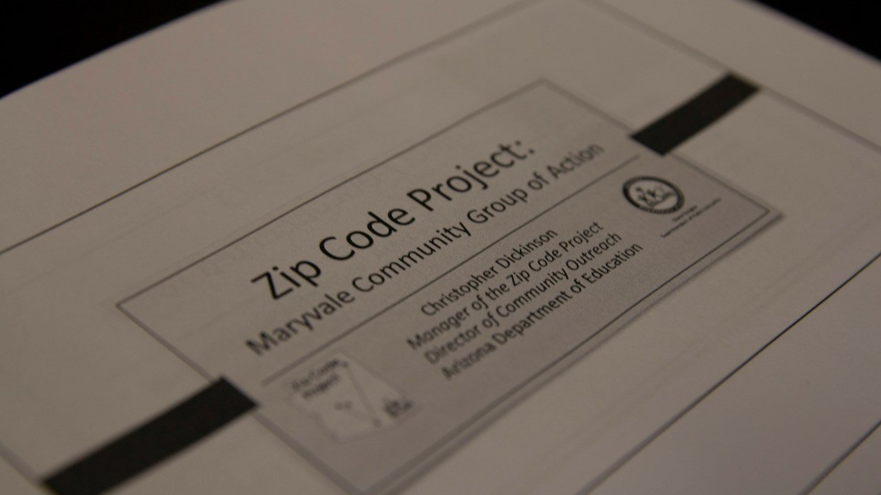 The Zip Code Project was started in 2015 by Christopher Dickinson in order to address the high rate of 'disconnected youth' in Arizona. (Source: Lysandra Marquez/Cronkite News)