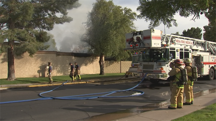 A home suffered severe damage due to a fire in Tempe. (Source: 3TV/CBS 5)