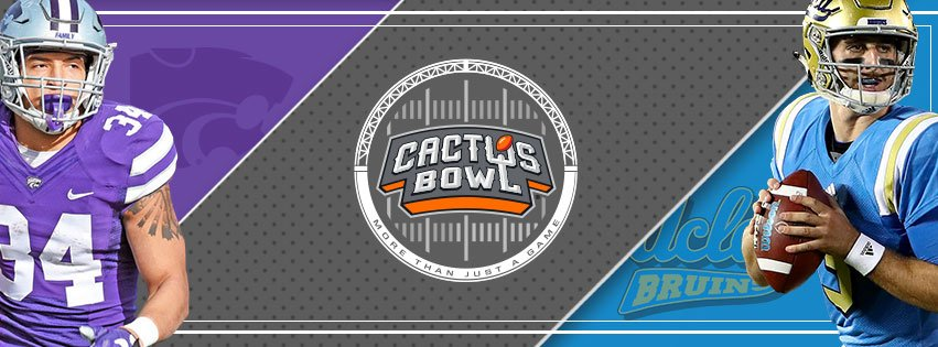 As for the Cactus Bowl, it will be Kansas State versus UCLA. (Source: fiestabowl.org)