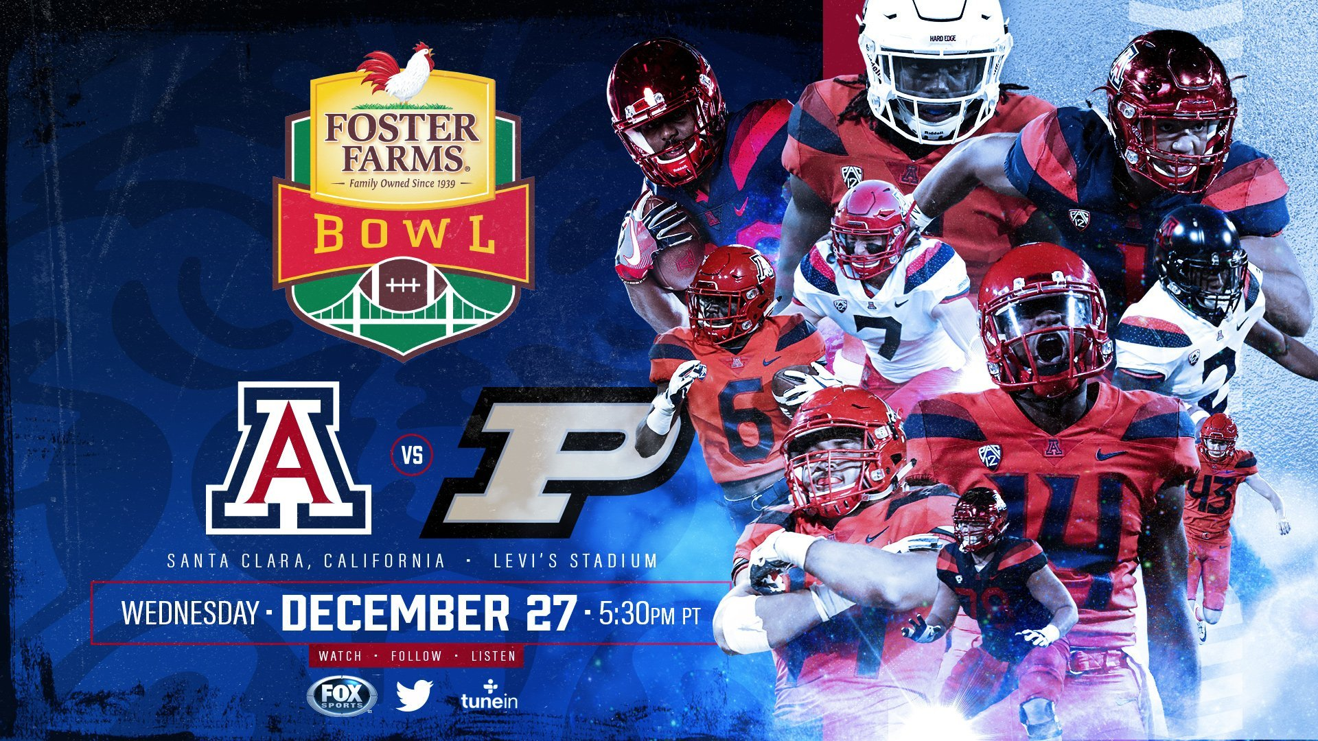As for the Wildcats, they will head to Santa Clara, California for the Foster Farms Bowl. (Source: Twitter)