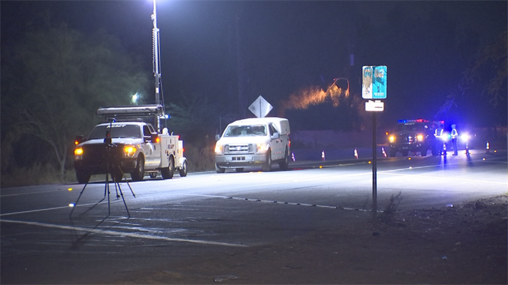 A man was transported to a local hospital with life-threatening injuries after being hit by a car in Phoenix on Sunday night. (Source: 3TV/CBS 5)