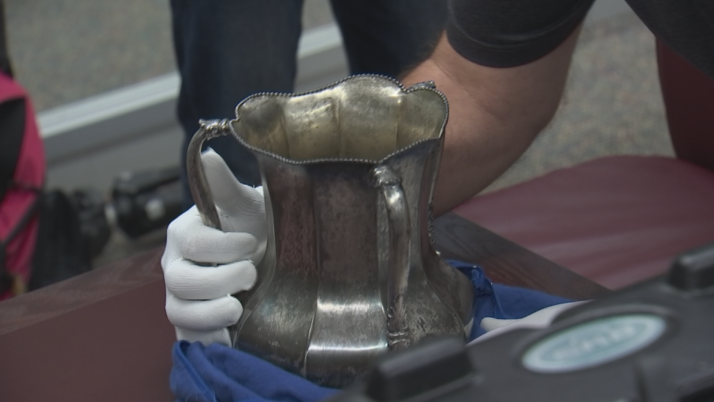 The Territorial Cup Trophy is back on the Arizona State University campus after getting a 42-30 win over the University of Arizona at Sun Devils Stadium on Nov. 25. (Source: 3TV/CBS 5)