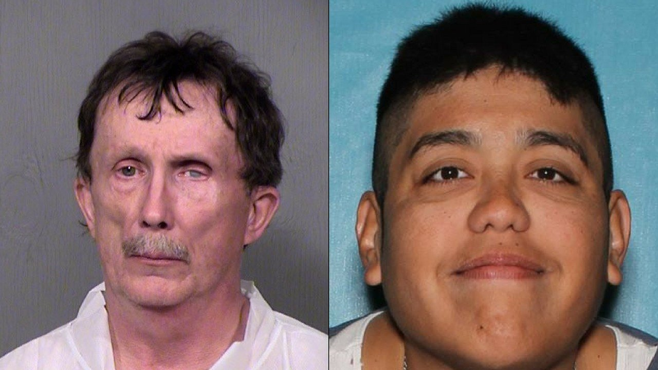 From Left to Right, suspect Kevin Murphy, 60, and victim Paul Hernandez (Source: Glendale Police Department)
