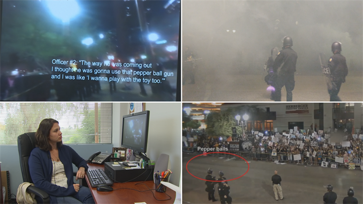 The ACLU is asking for the public's help to go through hundreds of videos from the anti-Trump protest on Aug. 22. (Source: 3TV/CBS 5)