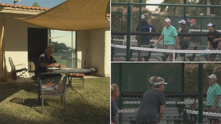 Some neighbors are upset over plans to install lights at the Ahwatukee Recreation Center some adults can play pickleball. (Source: 3TV/CBS 5)