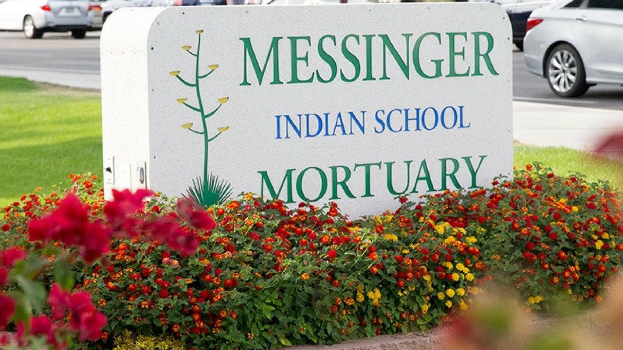 Messinger Indian School Mortuary. (Photo by Moriah Hernandez/Cronkite News)