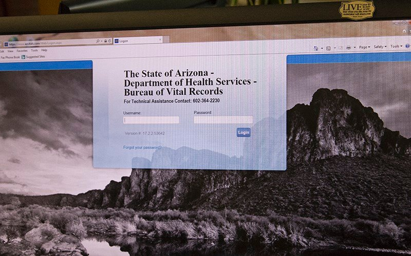 Arizona Department of Health Services went live with its new vital records system on Oct. 2. (Photo by Moriah Hernandez/Cronkite News)