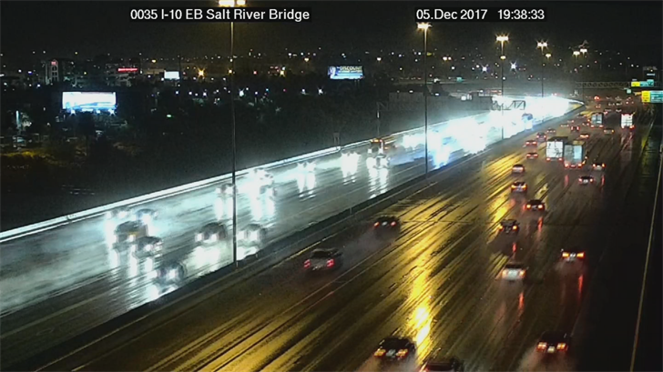 Wet roads in Phoenix. (Source: ADOT)