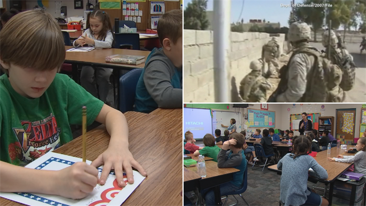 Students are writing letters to troops overseas. (Source: 3TV/CBS 5)