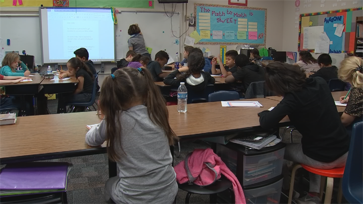 Their teacher says the project is mutually beneficial, as the soldiers give them someone to look up to. (Source: 3TV/CBS 5)
