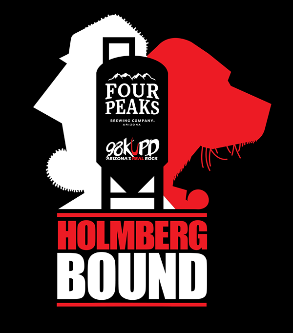 Holmberg Bound is a red IPA that's described as having huge hop flavor and aroma with subtle toasty malt flavor and a dry finish. (Source: 98KUPD)
