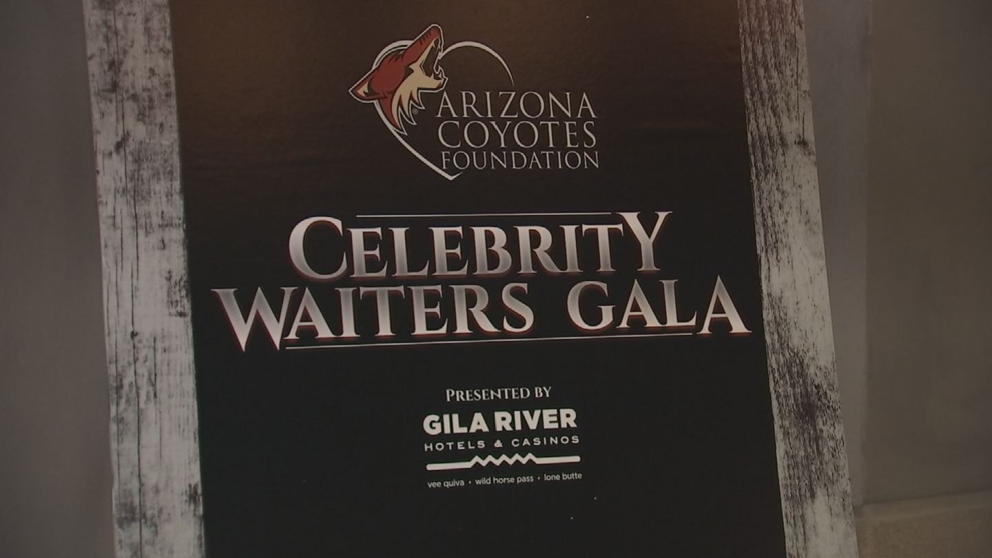 """The annual event raises money for the """"Arizona Coyotes Foundation,"""" which supports health, education and cultural arts programs for kids and service members across the state. (Source: 3TV/CBS 5)"""