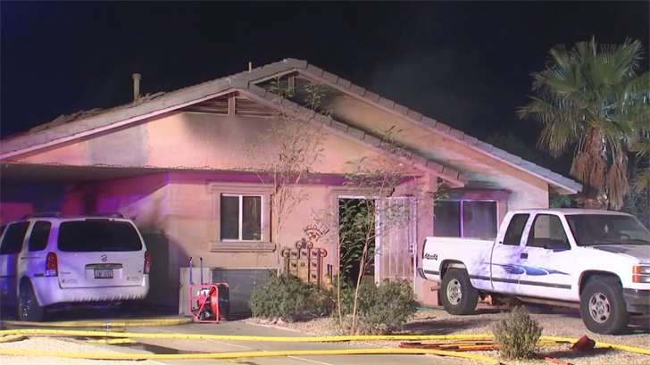 A family of four lost their home after a fire in El Mirage early Wednesday morning. (Source: 3TV/CBS 5)