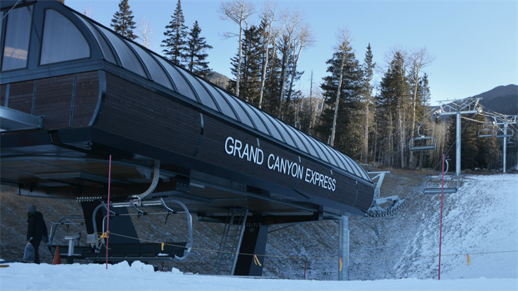 The Grand Canyon Express chairlift at Snowbowl was opened on Wednesday. (Source: Snowbowl)