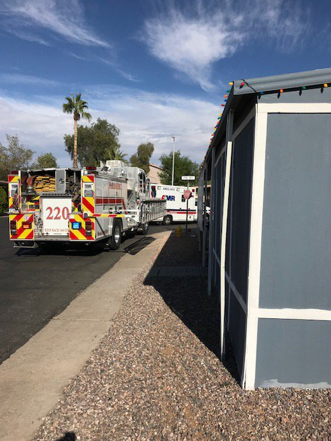 The incident happened in Mesa. (Source: Mesa Fire & Medical Dept.)