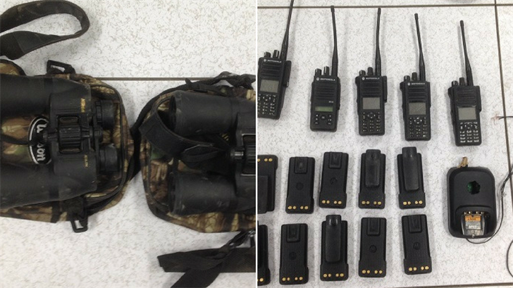 The first group of suspects were found with these devices. (Source: U.S. Customs and Border Protection)