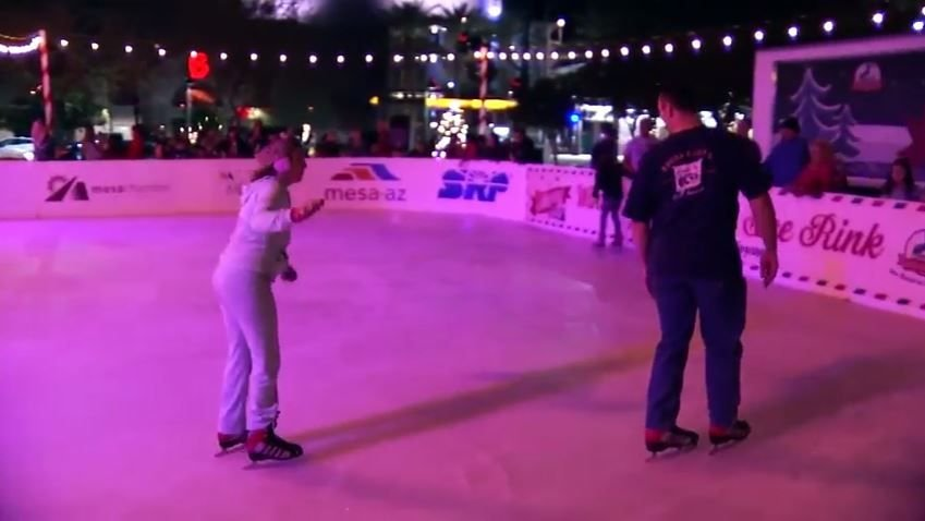 Winter Wonderland Ice Rink is open daily through Jan. 5 at Merry Main Street in Mesa. (Source: Merry Main Street)