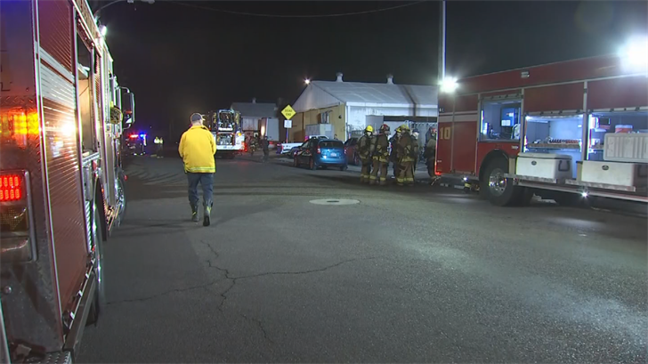 Several workers were evacuated after machinery caught fire at a Phoenix furniture warehouse early Thursday morning. (Source: 3TV/CBS 5)