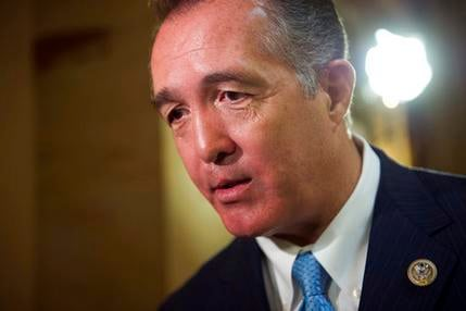 FILE - In this March 24, 2017, file photo, Rep. Trent Franks, R-Ariz. speaks with a reporter on Capitol Hill in Washington. (Source: AP Photo/Cliff Owen, File)