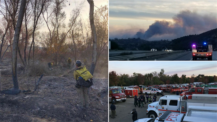 Rosas works with the Arizona Department of Forestry and Fire and is one of 153 firefighters from across Arizona sent to help battle the fires sweeping the state.(Source: AZ Dept. of Forestry & Fire)