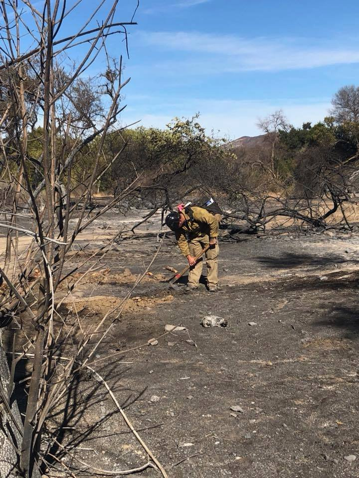Rosas says the winds turned in their favor Sunday and they were able to make good progress. (Source: AZ Dept. of Forestry & Fire)