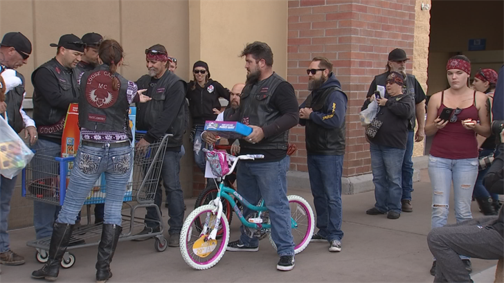 Hundreds of Phoenix-area bikers teamed up to make sure underprivileged kids get something under the Christmas tree this year. (Source: 3TV/CBS 5)