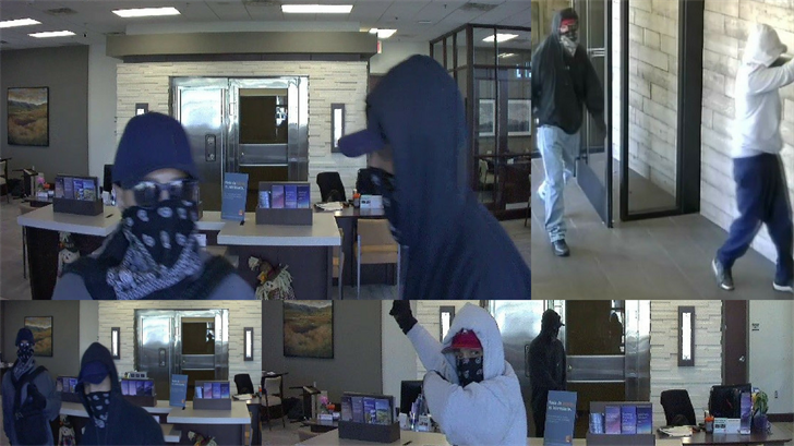 The FBI is seeking information on three men suspected of robbing various Phoenix bans starting in October. (Source: FBI)