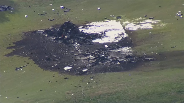 No one on the ground was hurt. (Source: 3TV/CBS 5)