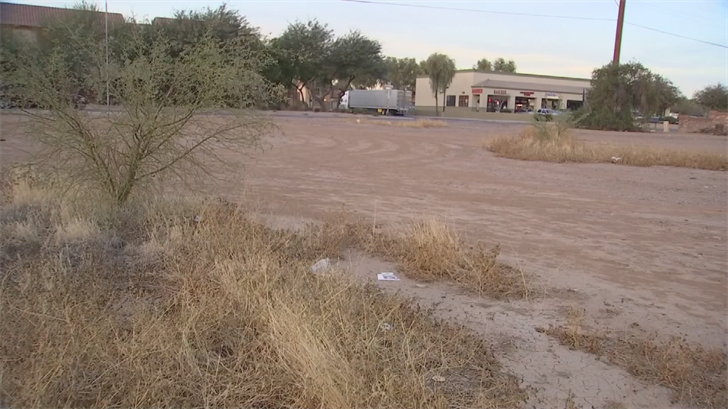 The site is in an empty field near McDowell Road and 85th Avenue. (Source: 3TV/CBS 5)