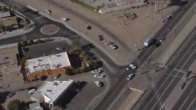 Aerial view of police scene in El Mirage (Source: 3TV/CBS 5)
