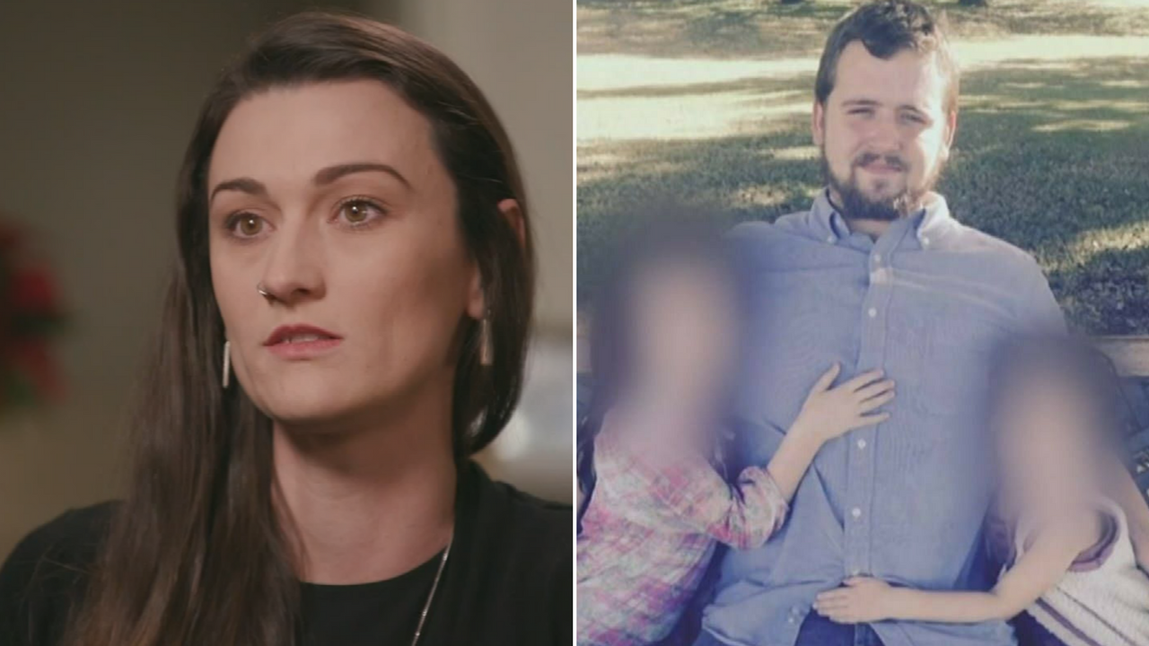 Laney Sweet spoke for the first time after an ex-Mesa police officer was acquitted of murder charges for shooting and killing her husband, Daniel Shaver. (Source: CBS News)