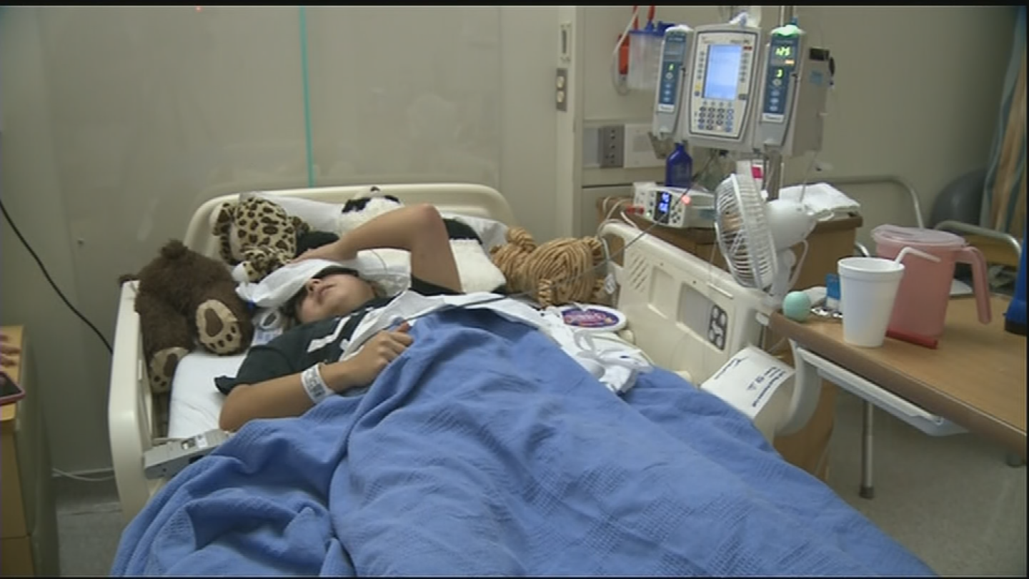 When we first met Galvez, she laid in a hospital bed, wracked with pain. (Source: 3TV/CBS 5)