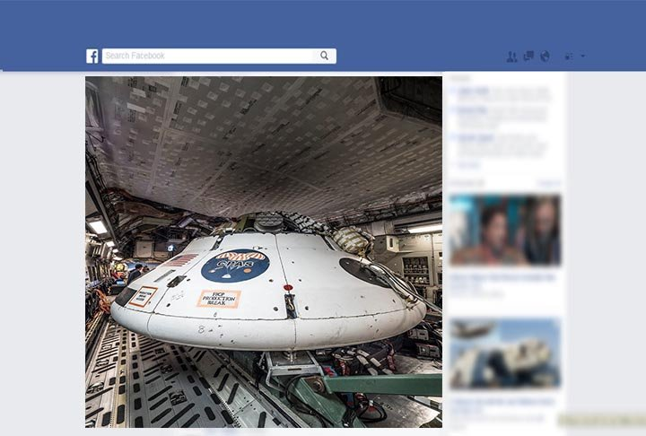 You can view the live stream of the parachute test vehicle at facebook.com/nasaorion. (Source: Facebook/NASAOrion)