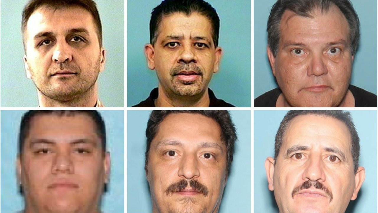 Hari Lubovac 42 (top left), Harpreet Singh 48, Adrian Peric 57, Raul Chavez-Escalante 24, Tony Gordon 40 and Jesus Felix 52 all arrested by Mesa PD in a sex trafficking sting. (Source: Mesa Police Department)